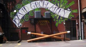 The Largest Drumsticks In The World Are Hiding In This Alleyway Near Cleveland