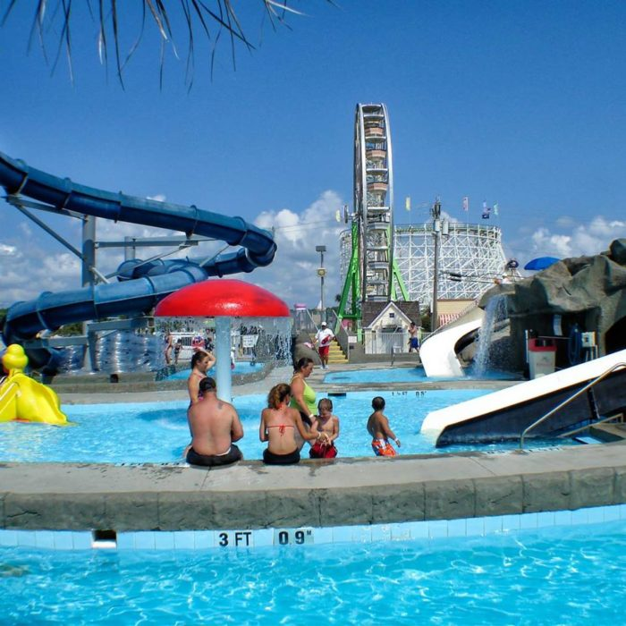 Inflatable Slide North Myrtle Beach: Splashes Oceanfront Water Park In South Carolina Has A