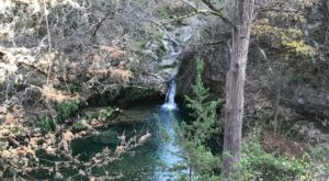 There's A Secret Waterfall Hiding In This Popular Texas State Park