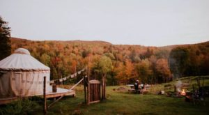 Escape To This One-Of-A-Kind Yurt On A Vermont Goat Farm